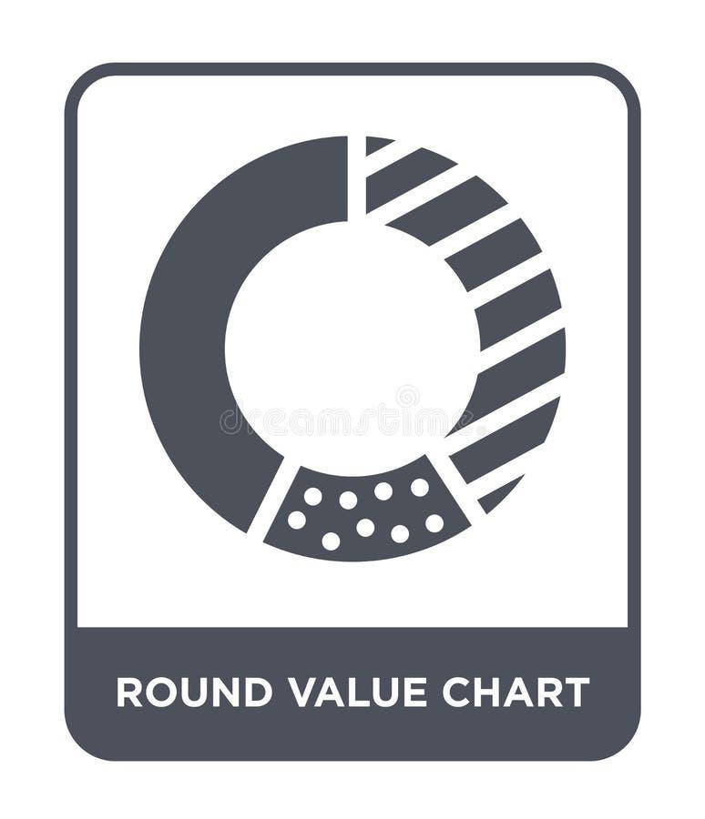 在时髦设计样式的圆的价值图象 在白色背景隔绝的圆的价值图象 圆的价值图传染媒介象 向量例证