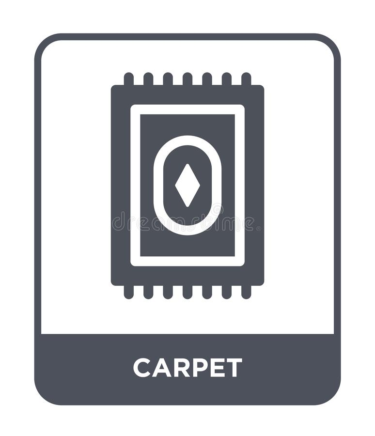 在时髦设计样式的地毯象 在白色背景隔绝的地毯象 地毯传染媒介象简单和现代平的标志为 库存例证
