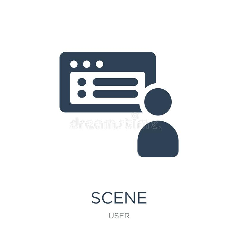 在时髦设计样式的场面象 在白色背景隔绝的场面象 场面传染媒介象简单和现代平的标志为 库存例证