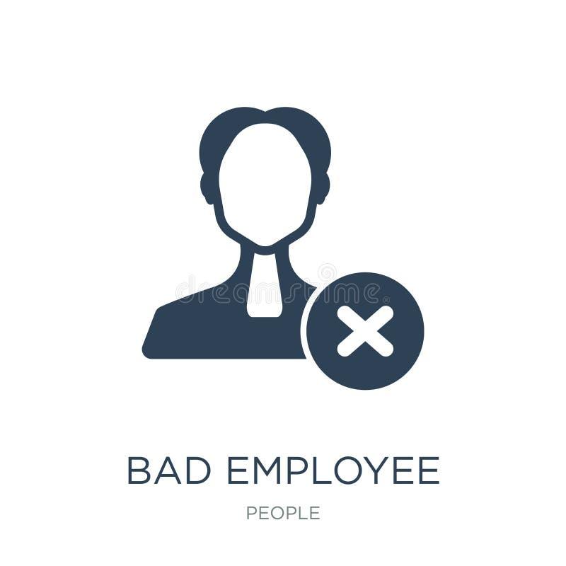 在时髦设计样式的坏雇员象 在白色背景隔绝的坏雇员象 简单坏雇员传染媒介的象和 皇族释放例证