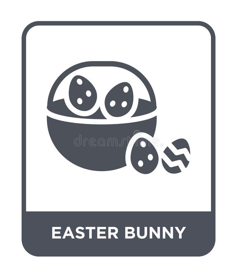 在时髦设计样式的复活节兔子象 在白色背景隔绝的复活节兔子象 复活节兔子简单传染媒介的象和 皇族释放例证