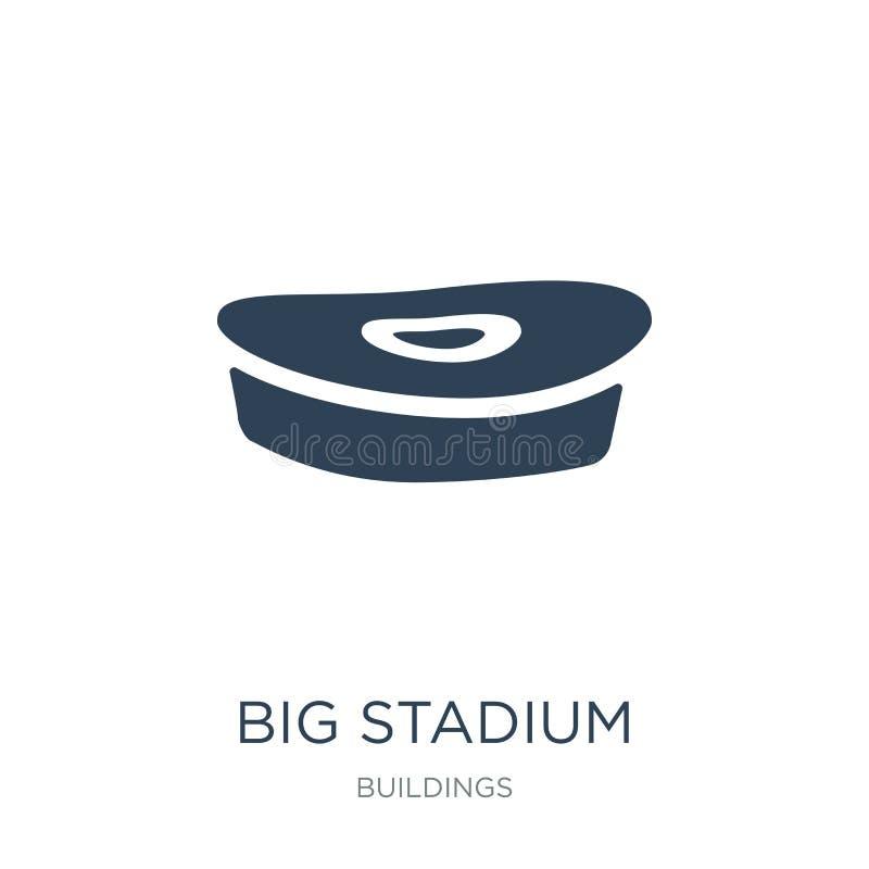 在时髦设计样式的大体育场象 在白色背景隔绝的大体育场象 现代大体育场传染媒介的象简单和 向量例证