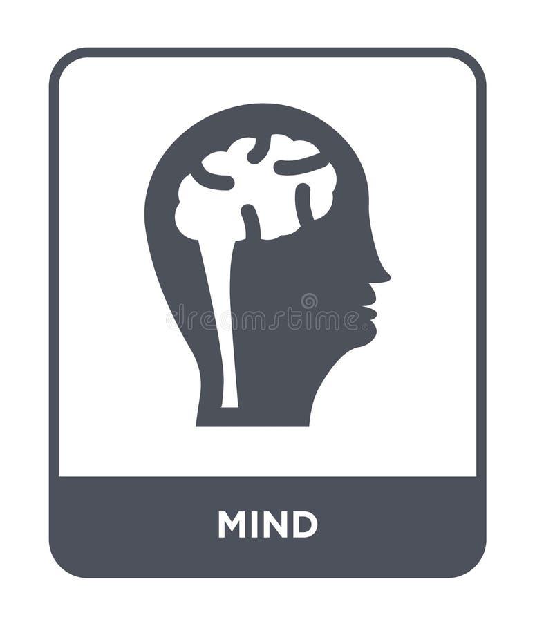 在时髦设计样式的头脑象 在白色背景隔绝的头脑象 网的头脑传染媒介象简单和现代平的标志 皇族释放例证