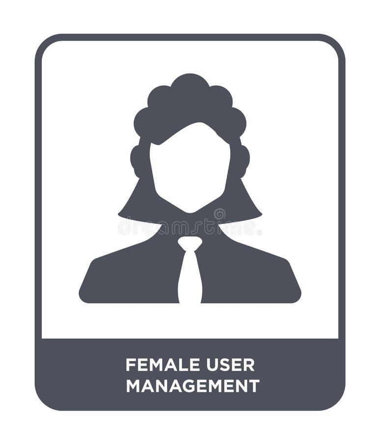 在时髦设计样式的女性用户管理象 在白色背景隔绝的女性用户管理象 女性用户 皇族释放例证