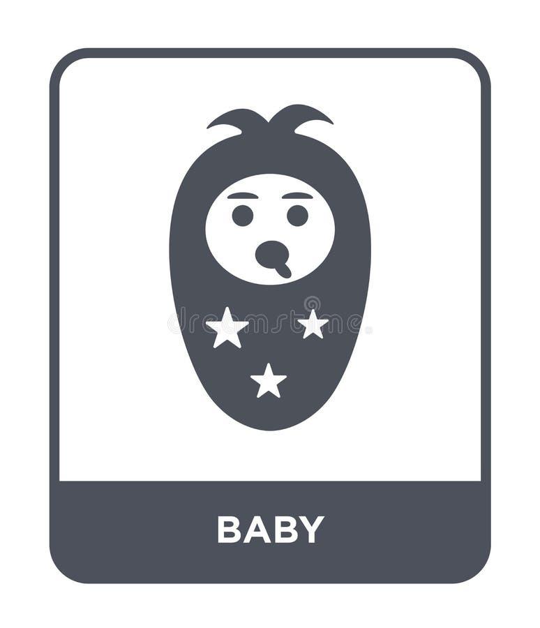 在时髦设计样式的婴孩象 在白色背景隔绝的婴孩象 网的婴孩传染媒介象简单和现代平的标志 皇族释放例证