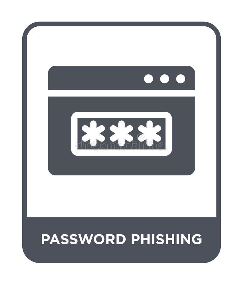 在时髦设计样式的密码phishing的象 在白色背景隔绝的密码phishing的象 密码phishing的传染媒介象 皇族释放例证