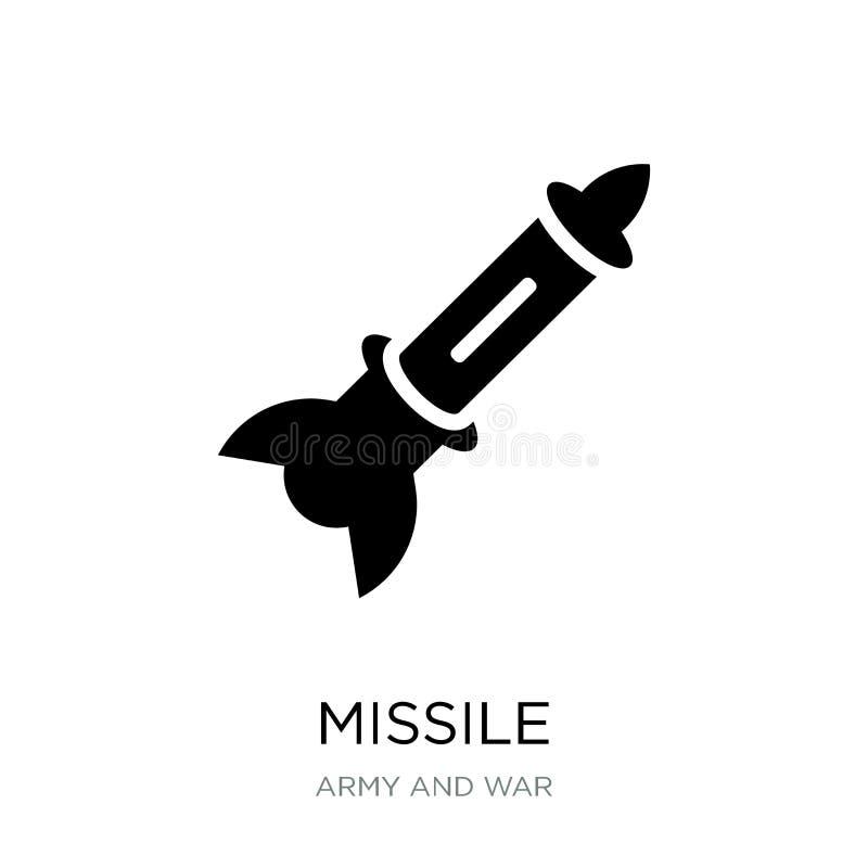 在时髦设计样式的导弹象 在白色背景隔绝的导弹象 导弹传染媒介象简单和现代平的标志 库存例证