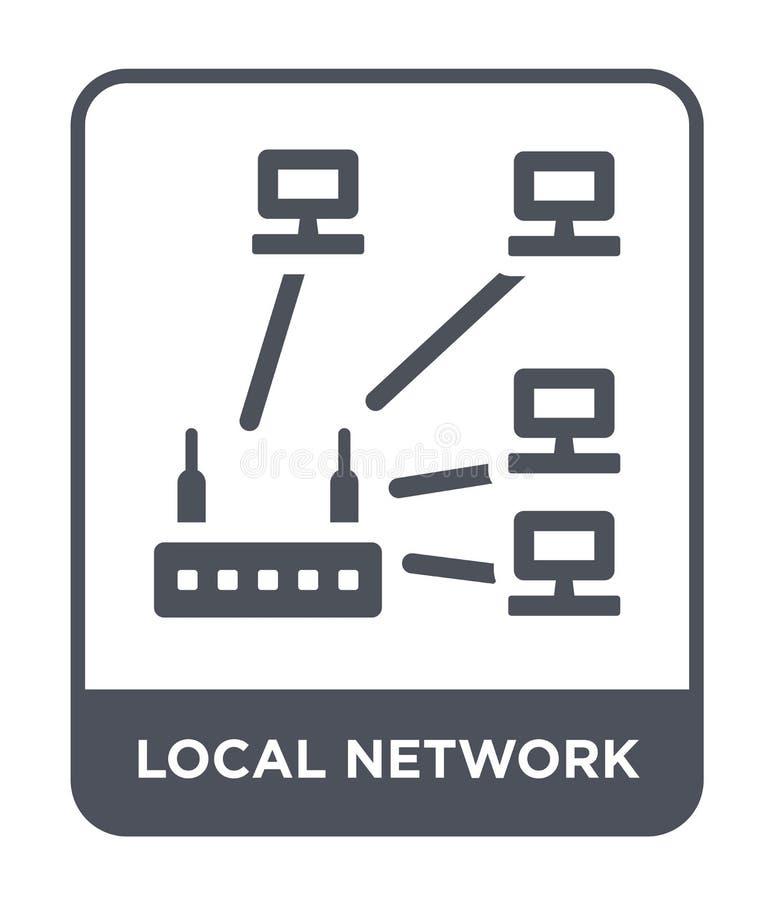在时髦设计样式的局部网络象 在白色背景隔绝的局部网络象 局部网络简单传染媒介的象和 向量例证