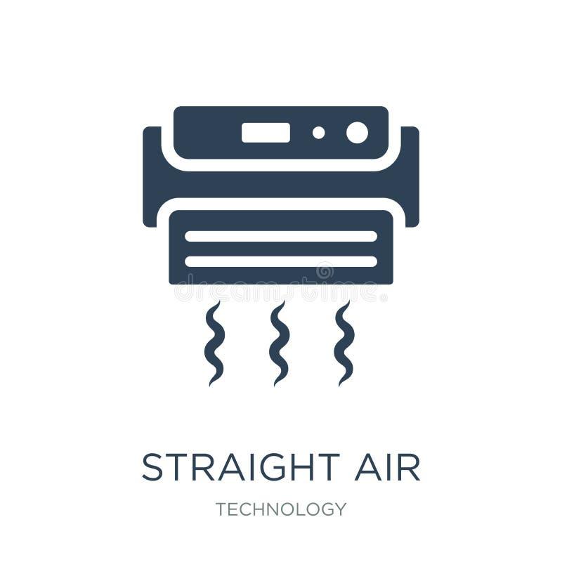在时髦设计样式的平直的空气象 在白色背景隔绝的平直的空气象 简单平直的空气传染媒介的象和 向量例证