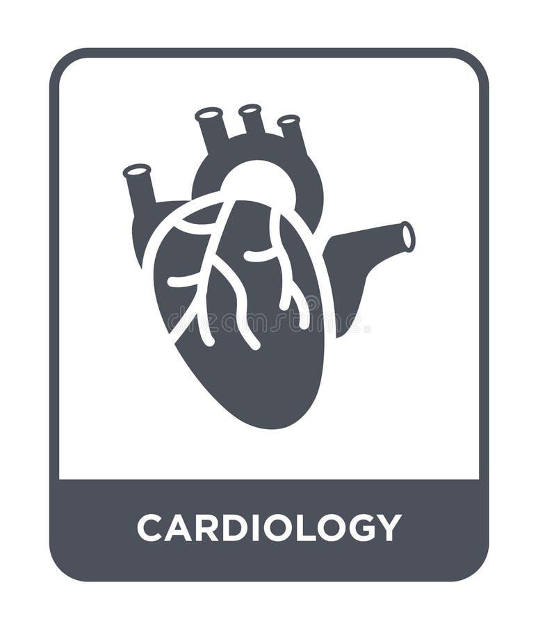 在时髦设计样式的心脏病学象 在白色背景隔绝的心脏病学象 心脏病学现代传染媒介的象简单和 皇族释放例证