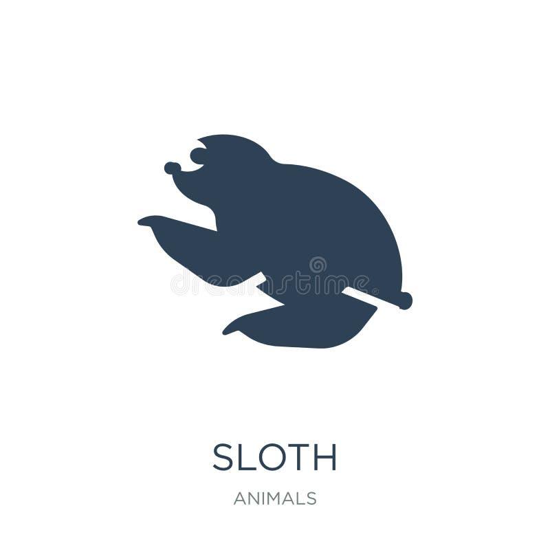 在时髦设计样式的怠惰象 在白色背景隔绝的怠惰象 怠惰传染媒介象简单和现代平的标志为 向量例证
