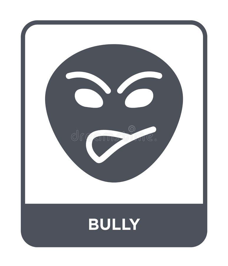 在时髦设计样式的恶霸象 在白色背景隔绝的恶霸象 恶霸传染媒介象简单和现代平的标志为 向量例证