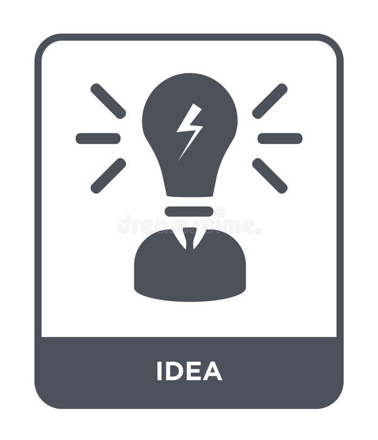 在时髦设计样式的想法象 在白色背景隔绝的想法象 网的想法传染媒介象简单和现代平的标志 向量例证