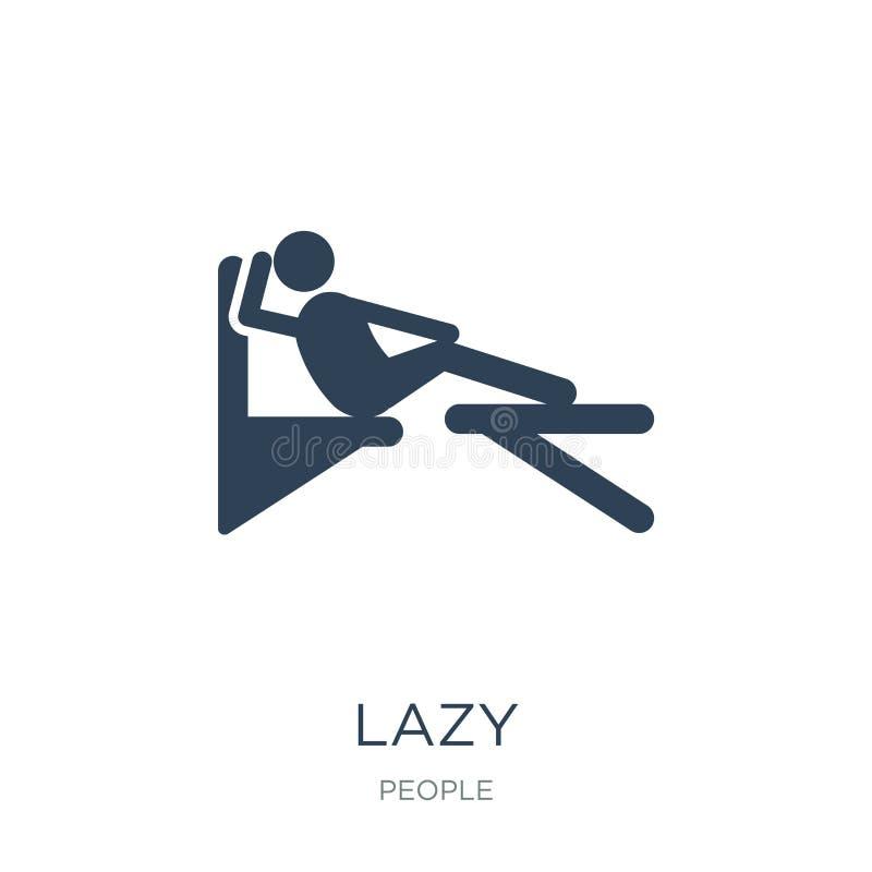在时髦设计样式的懒惰象 在白色背景隔绝的懒惰象 懒惰网的传染媒介象简单和现代平的标志 皇族释放例证