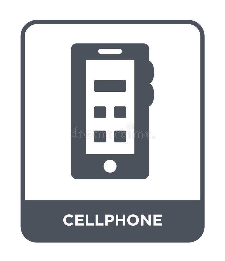 在时髦设计样式的手机象 在白色背景隔绝的手机象 手机传染媒介象简单和现代舱内甲板 皇族释放例证