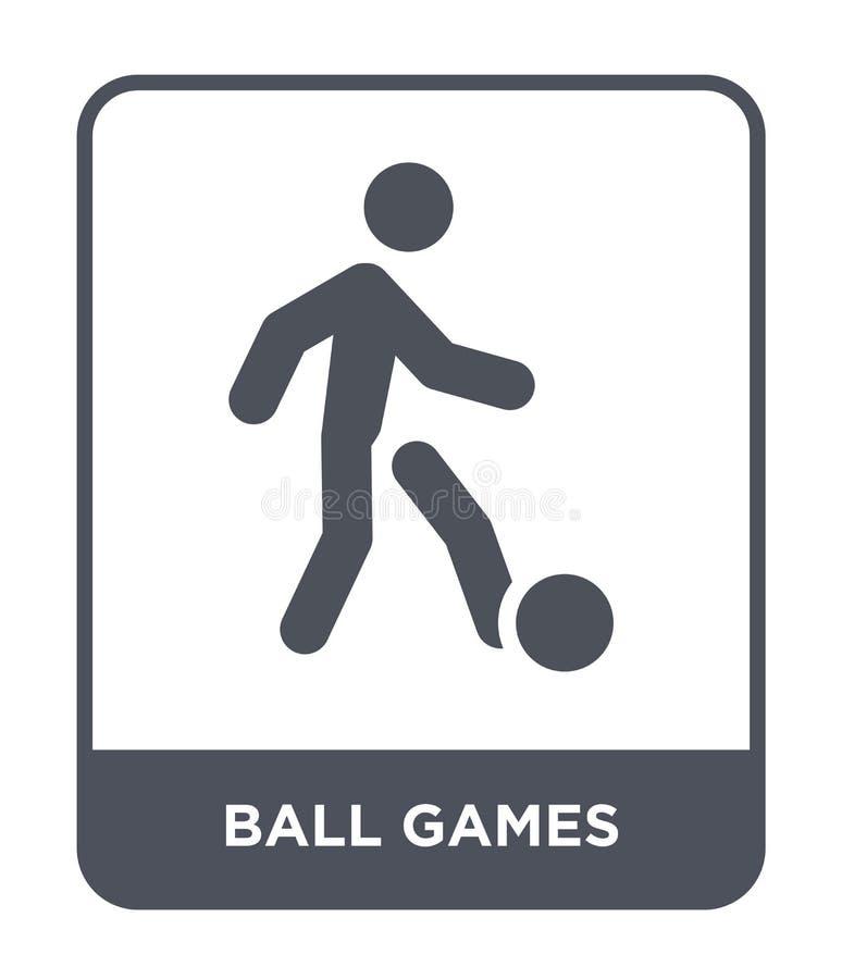 在时髦设计样式的打球象 在白色背景隔绝的打球象 打球现代传染媒介的象简单和 向量例证