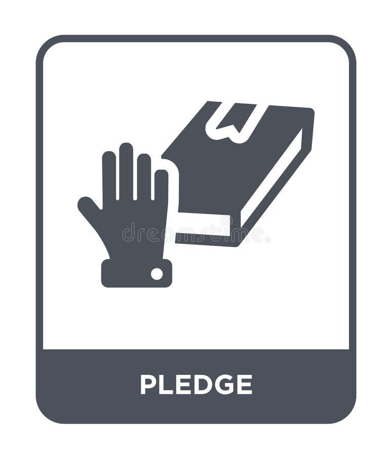 在时髦设计样式的承诺象 在白色背景隔绝的承诺象 承诺传染媒介象简单和现代平的标志为 库存例证