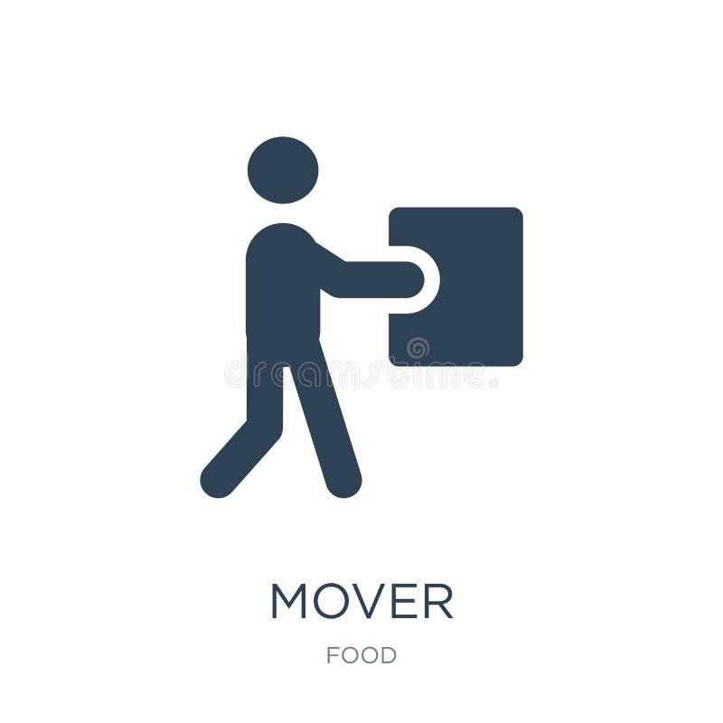 在时髦设计样式的搬家工人象 在白色背景隔绝的搬家工人象 搬家工人传染媒介象简单和现代平的标志为 皇族释放例证