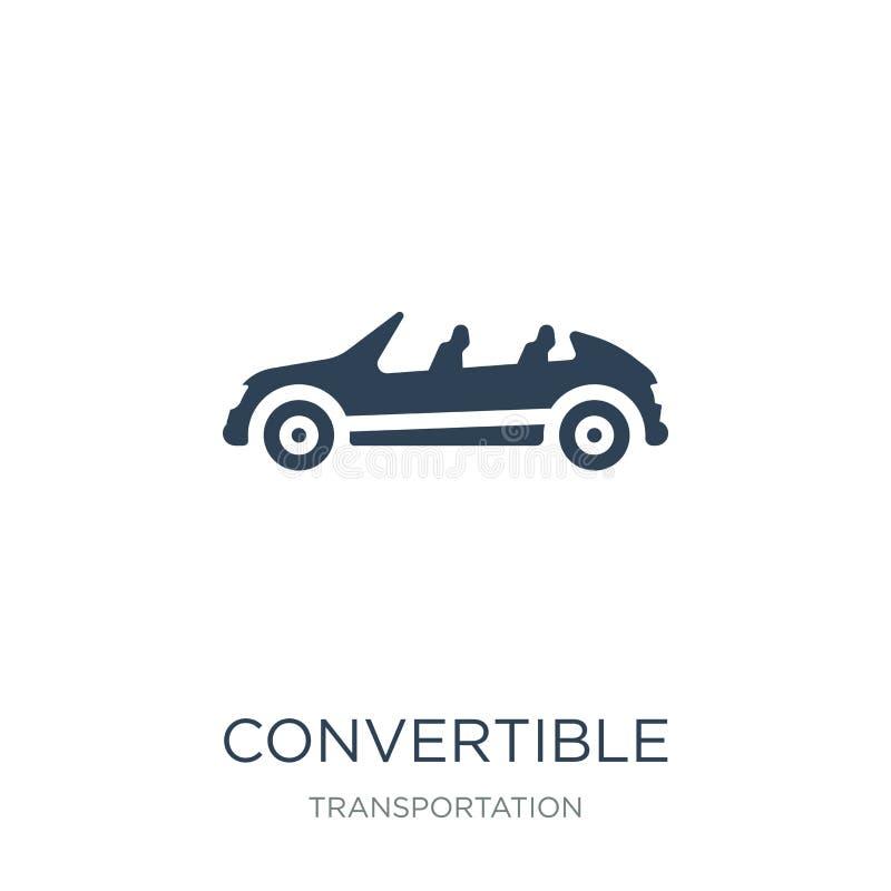 在时髦设计样式的敞篷车象 在白色背景隔绝的敞篷车象 现代敞篷车传染媒介的象简单和 库存例证