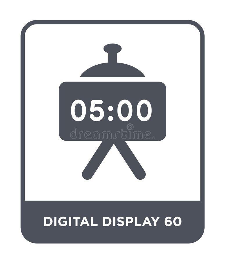 在时髦设计样式的数字显示60象 在白色背景隔绝的数字显示60象 数字显示60传染媒介 向量例证