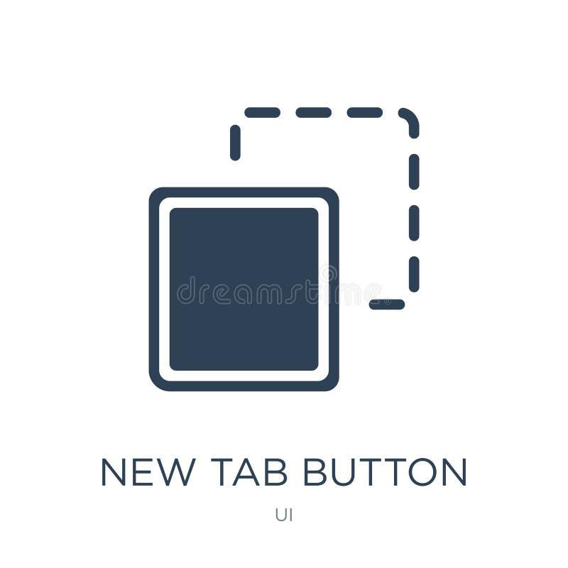 在时髦设计样式的新的选项按钮象 在白色背景隔绝的新的选项按钮象 简单新的选项按钮传染媒介的象 库存例证