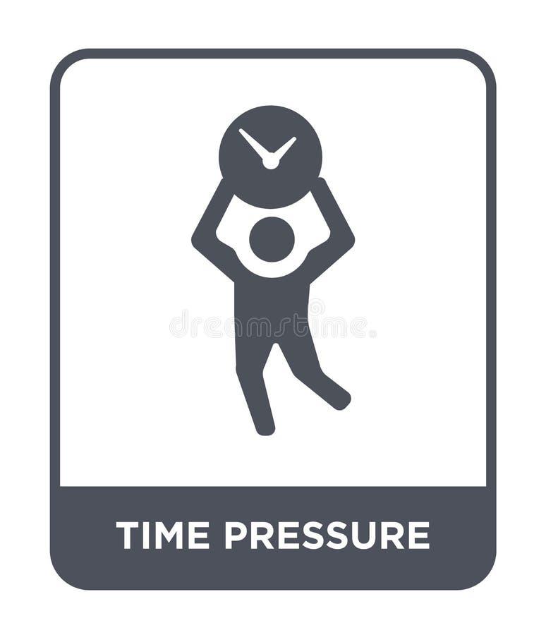 在时髦设计样式的时间压力象 在白色背景隔绝的时间压力象 时间压力简单传染媒介的象和 向量例证