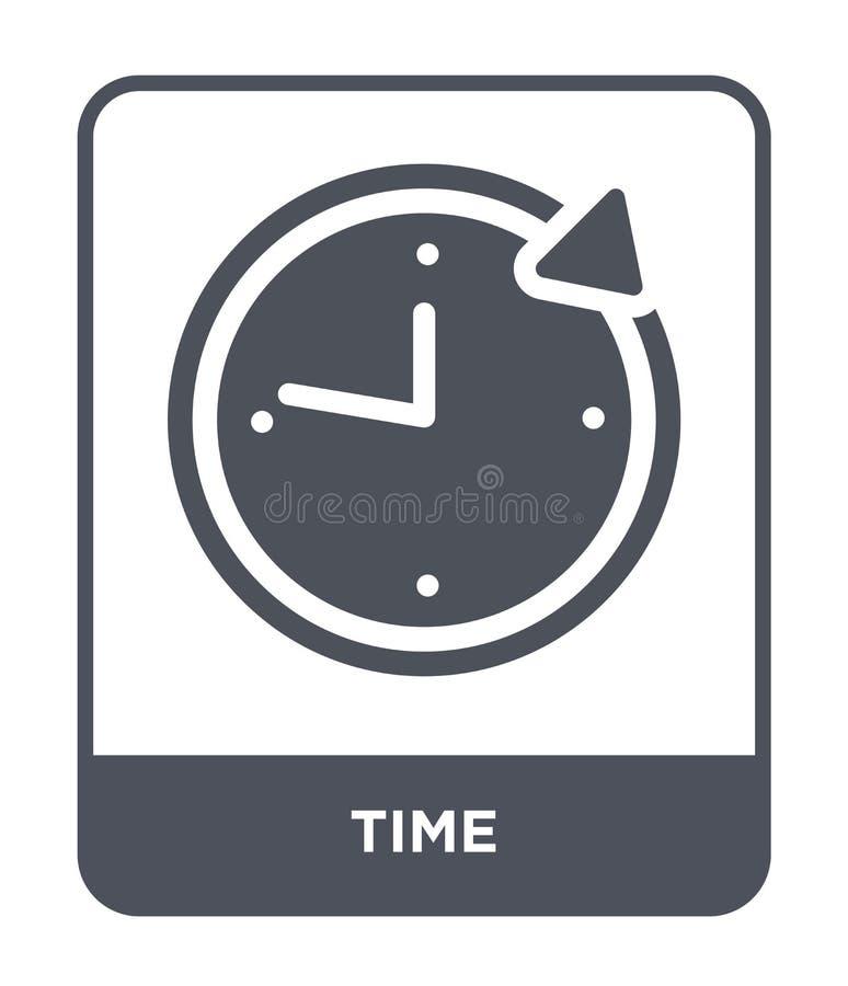 在时髦设计样式的时间象 在白色背景隔绝的时间象 网的时间传染媒介象简单和现代平的标志 库存例证