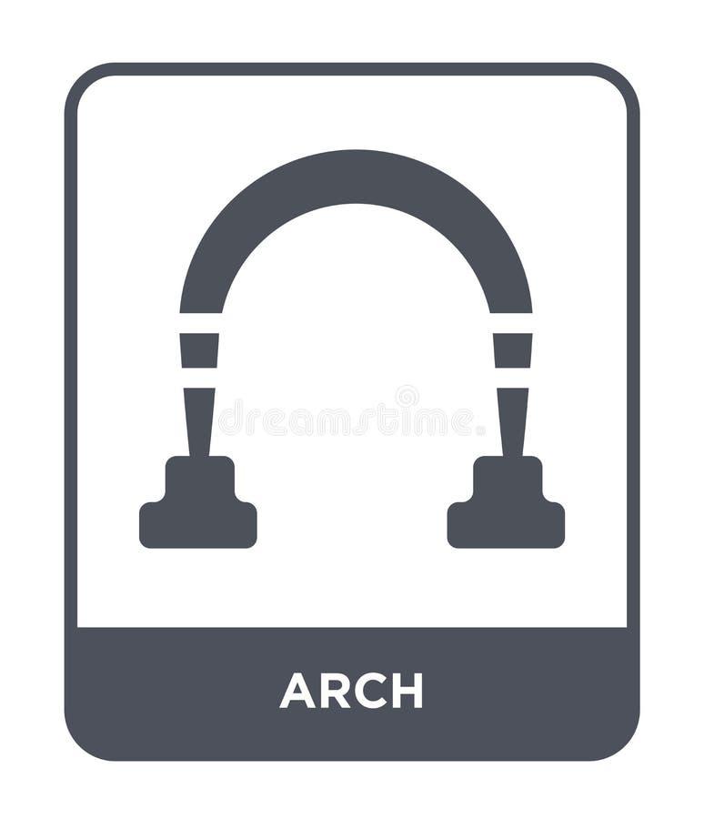 在时髦设计样式的曲拱象 在白色背景隔绝的曲拱象 网的曲拱传染媒介象简单和现代平的标志 皇族释放例证