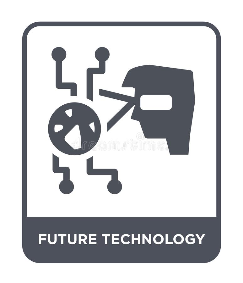 在时髦设计样式的未来技术象 在白色背景隔绝的未来技术象 未来技术传染媒介象 向量例证