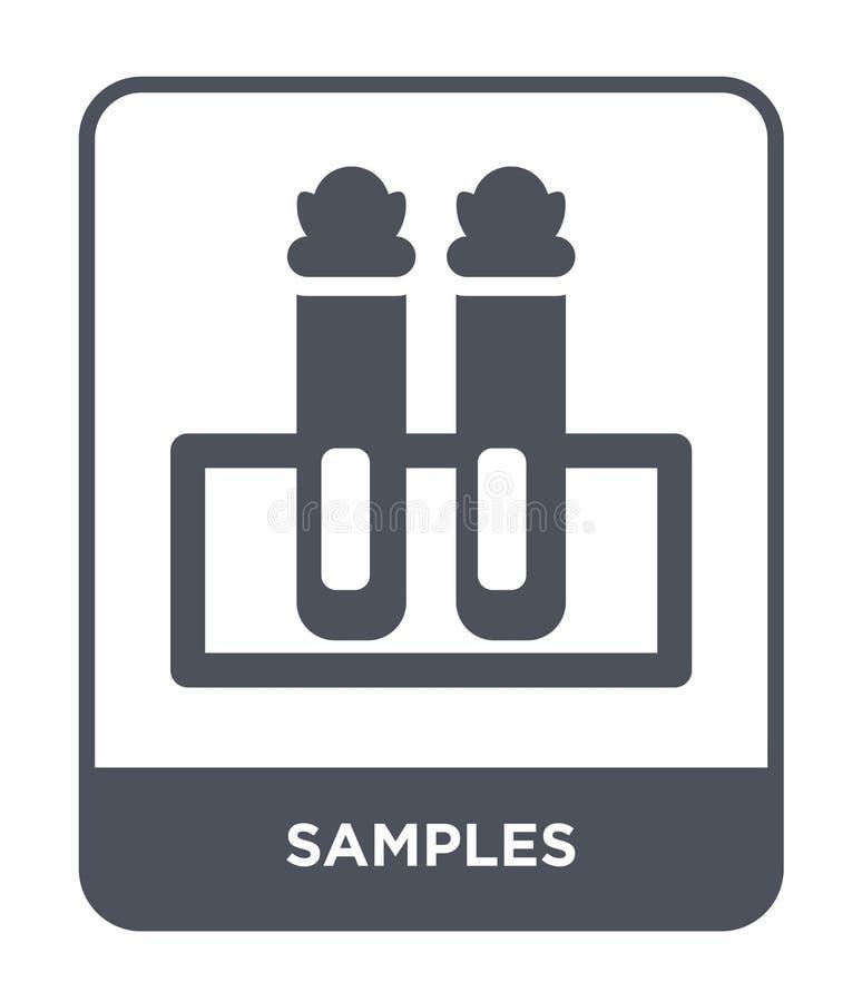 在时髦设计样式的样品象 抽样在白色背景隔绝的象 样品传染媒介象简单和现代平的标志 向量例证