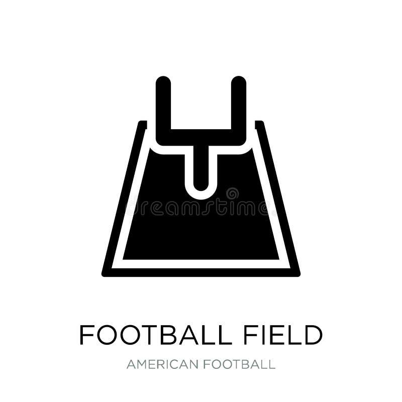 在时髦设计样式的橄榄球场象 在白色背景隔绝的橄榄球场象 橄榄球场简单传染媒介的象 向量例证