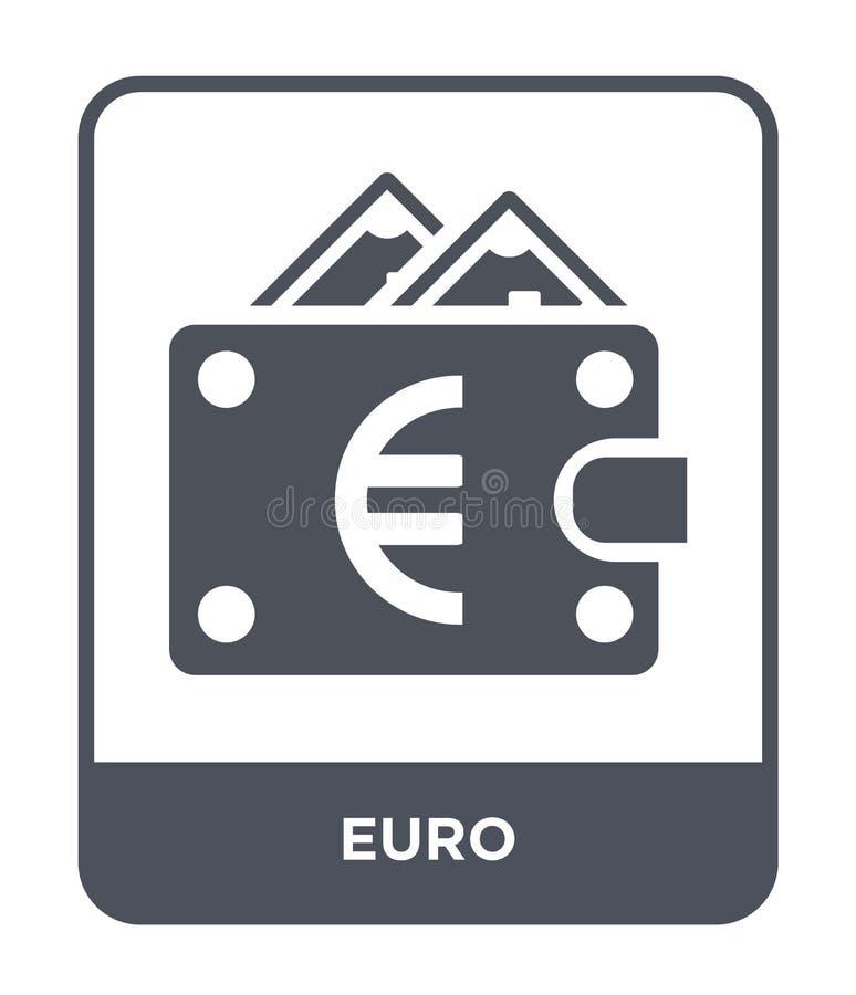 在时髦设计样式的欧元象 在白色背景隔绝的欧元象 欧元网的传染媒介象简单和现代平的标志 向量例证