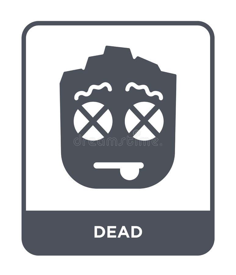在时髦设计样式的死的象 在白色背景隔绝的死的象 死的网的传染媒介象简单和现代平的标志 向量例证