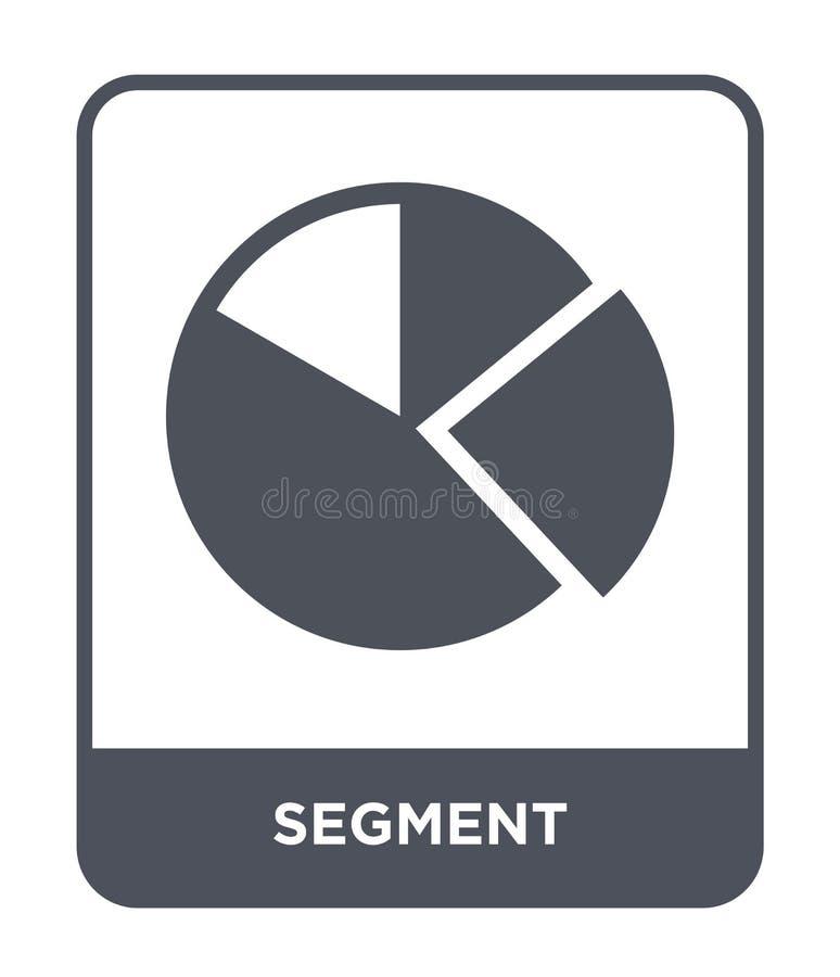 在时髦设计样式的段象 在白色背景隔绝的段象 段传染媒介象简单和现代平的标志 库存例证