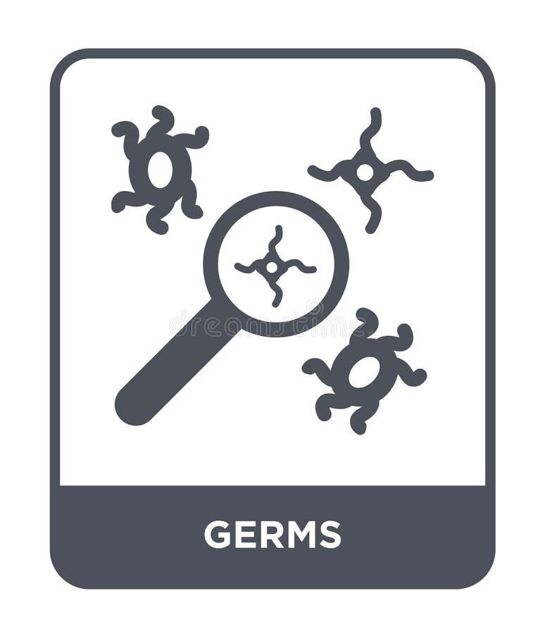 在时髦设计样式的毒菌象 在白色背景隔绝的毒菌象 毒菌传染媒介象简单和现代平的标志为 皇族释放例证