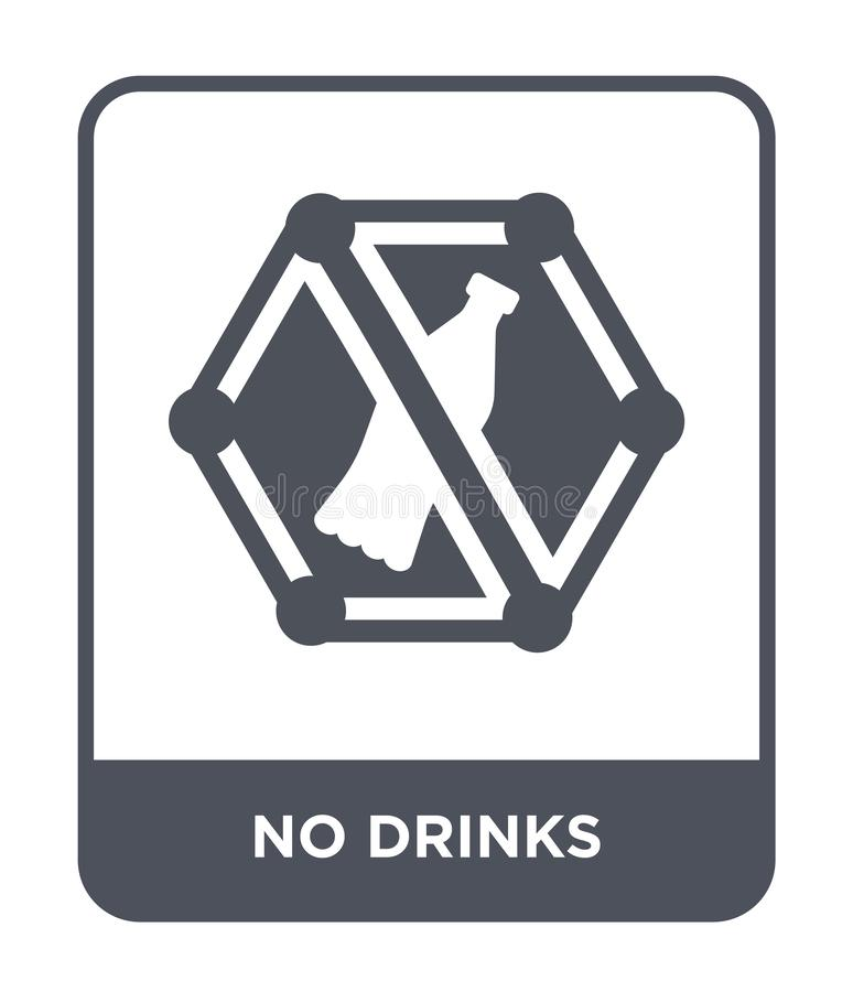 在时髦设计样式的没有饮料象 在白色背景隔绝的没有饮料象 饮料不导航象简单和现代舱内甲板 库存例证