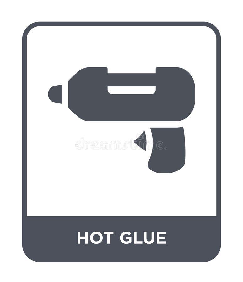 在时髦设计样式的热的胶浆象 在白色背景隔绝的热的胶浆象 热的胶浆传染媒介象简单和现代舱内甲板 库存例证