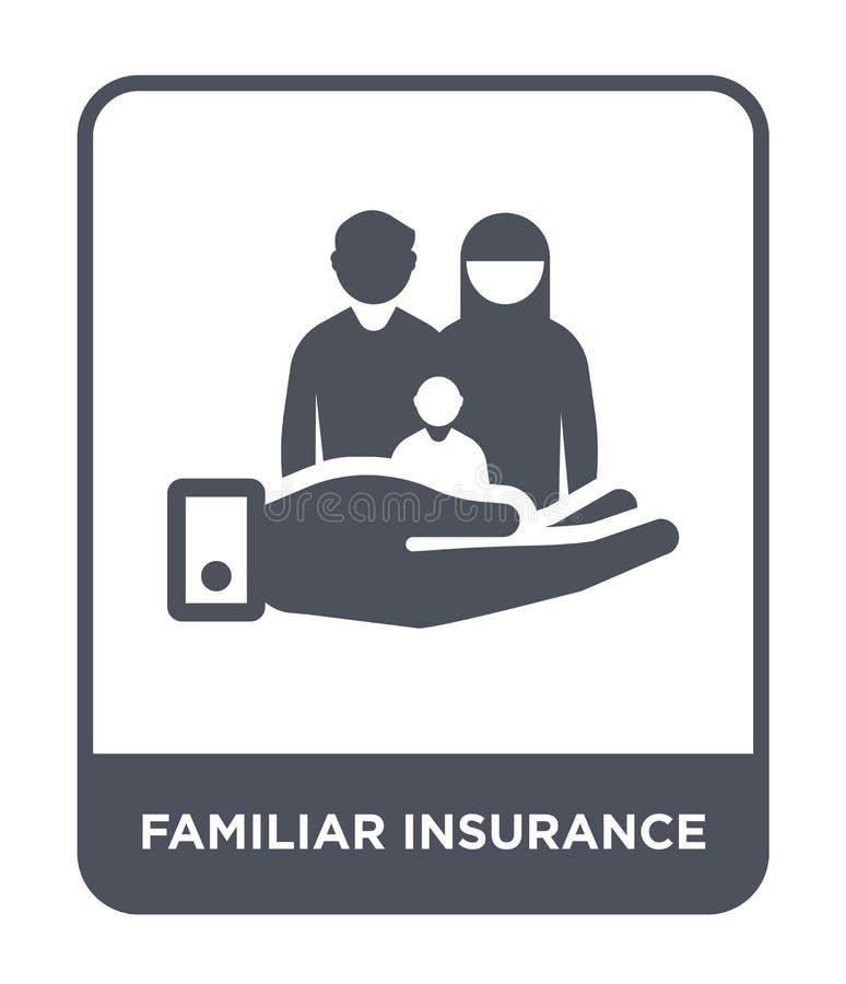 在时髦设计样式的熟悉的保险象 在白色背景隔绝的熟悉的保险象 熟悉的保险传染媒介 库存例证