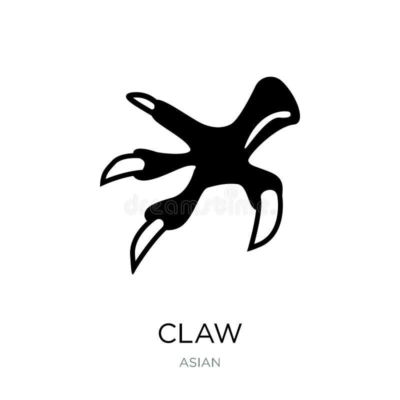 在时髦设计样式的爪象 在白色背景隔绝的爪象 网的爪传染媒介象简单和现代平的标志 皇族释放例证