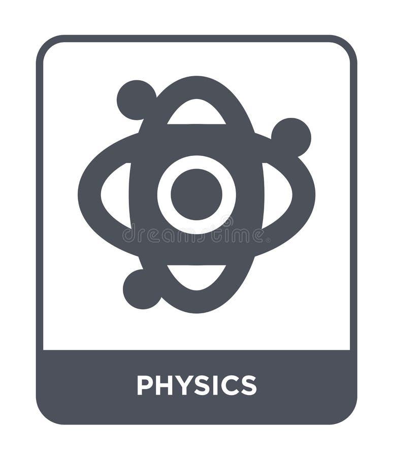 在时髦设计样式的物理象 在白色背景隔绝的物理象 物理传染媒介象简单和现代平的标志 皇族释放例证