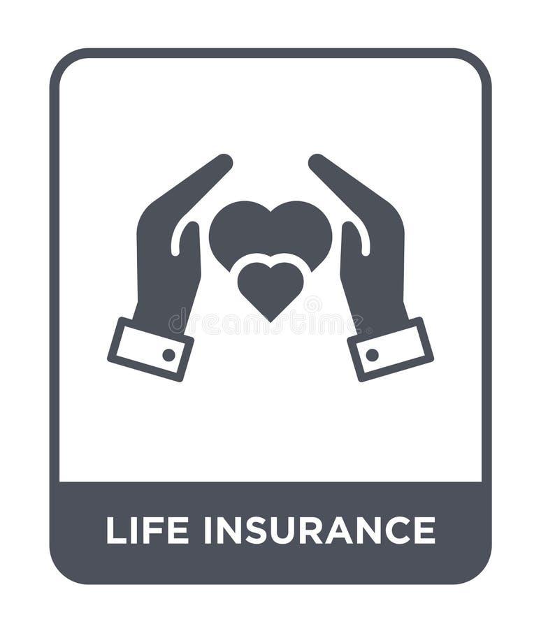 在时髦设计样式的生命保险象 在白色背景隔绝的人寿保险象 生命保险简单传染媒介的象 向量例证