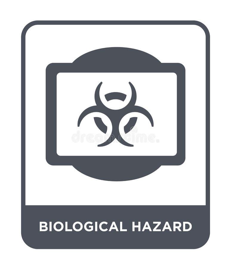 在时髦设计样式的生物危险象 在白色背景隔绝的生物危险象 生物危险传染媒介象 皇族释放例证
