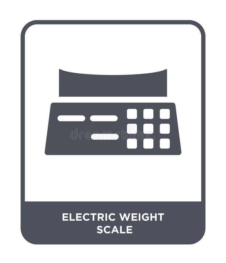 在时髦设计样式的电重量标度象 在白色背景隔绝的电重量标度象 电重量标度 库存例证