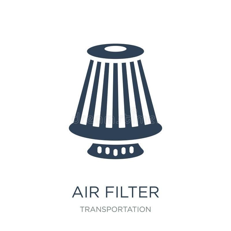 在时髦设计样式的空气过滤器象 在白色背景隔绝的空气过滤器象 空气过滤器现代传染媒介的象简单和 向量例证