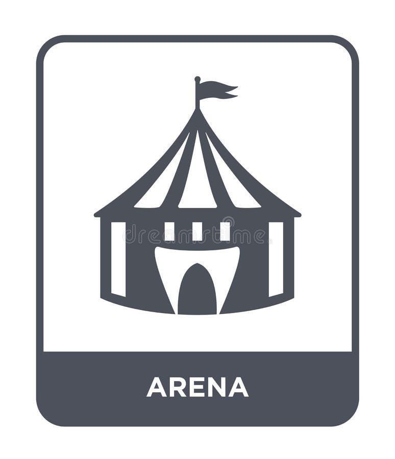 在时髦设计样式的竞技场象 在白色背景隔绝的竞技场象 竞技场传染媒介象简单和现代平的标志为 皇族释放例证