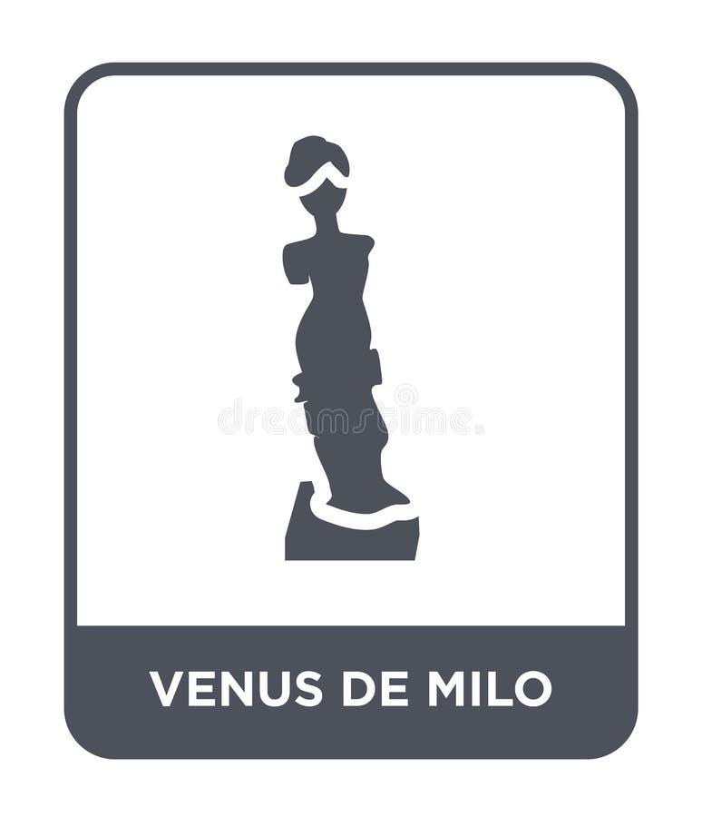 在时髦设计样式的米罗的维纳斯象 在白色背景隔绝的米罗的维纳斯象 米罗的维纳斯简单传染媒介的象和 皇族释放例证