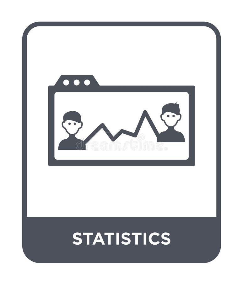 在时髦设计样式的统计象 在白色背景隔绝的统计象 统计现代传染媒介的象简单和 向量例证