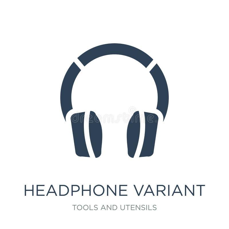 在时髦设计样式的耳机不同的象 在白色背景隔绝的耳机不同的象 耳机不同的传染媒介象 库存例证