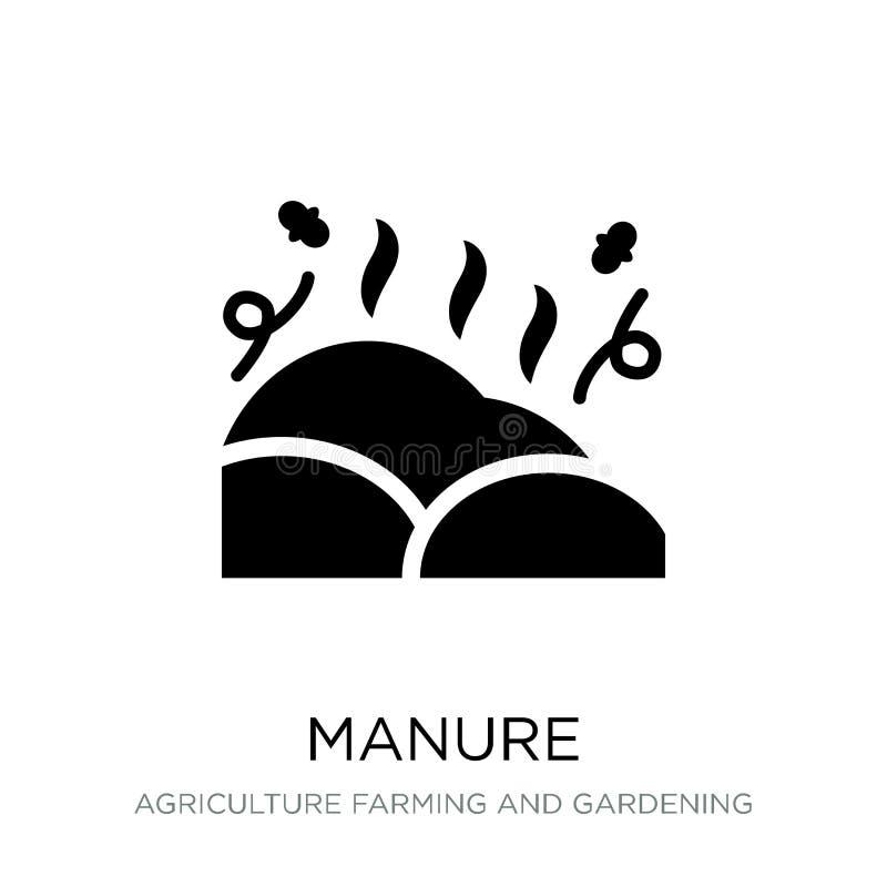 在时髦设计样式的肥料象 在白色背景隔绝的肥料象 肥料传染媒介象简单和现代平的标志为 库存例证