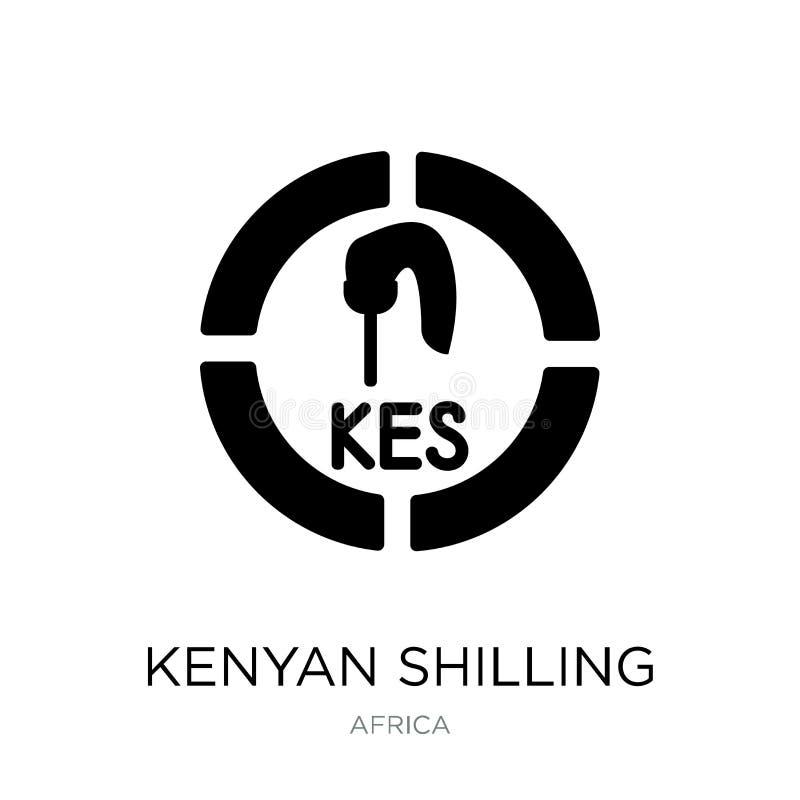 在时髦设计样式的肯尼亚先令象 在白色背景隔绝的肯尼亚先令象 肯尼亚先令简单传染媒介的象 库存例证